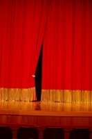curtains on a stage