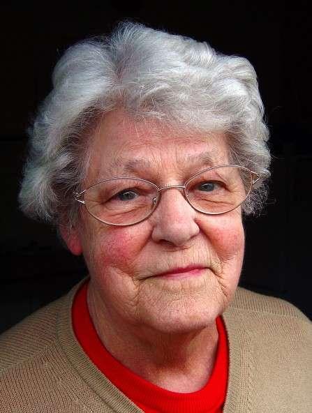 a happy female pensioner