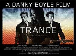 poster for Danny Boyle film Trance
