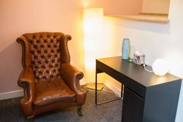talking therapy like cbt, counselling and hypnosis is ideal in this room
