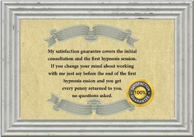 the only sheffield hypnotherapy business with a satisfaction guarantee