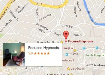 A map showing the location of focused hypnosis
